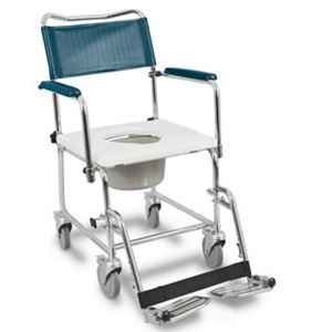 "Picture of Medpro Euro Commode, Drop Arms, 4 Locking Casters, 16"" Clearance, I.C. Friendly"