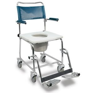"""Picture of Medpro Euro Commode, Lift-Up Arms, 4 Locking Casters, 19.5"""" Clearance, I.C. Frien"""