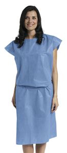 Picture of Patient   Gown Sms Blue Sleeveless