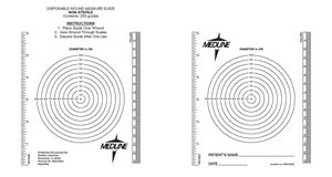 Picture of Wound  Measuring  Guide Bullseye -Ruler