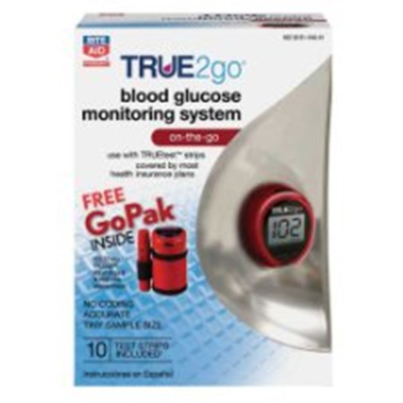 Picture of True2Go Blood Glucose Test Monitor with 50 Test Strips ** NOT AVAILABLE **