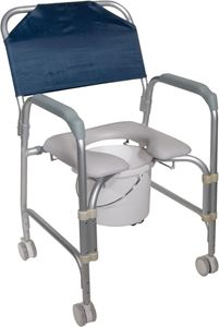 Picture of Aluminium Shower Chair and Commode with Casters