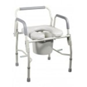 Picture of Commode Drop-Arm, Padded Seat Knock Down 1 c/s