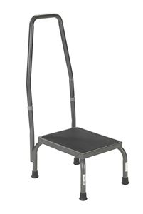Picture of Foot Stool Deluxe with HandRail, Silver Vein 1 c/s