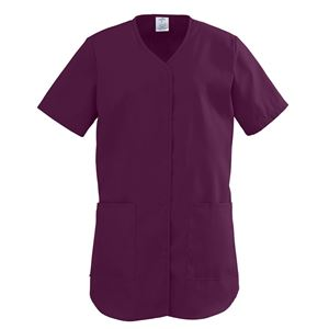 Picture of ComfortEase Ladies Shirttail Scrub Tops