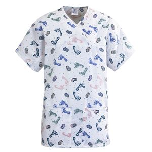 Picture of ComfortEase Ladies Expandable Tunic Scrub Tops