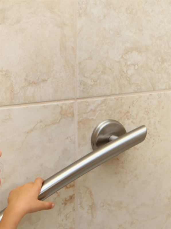"Picture of 16"" Curved Grab Bar (Brushed Nickel)"