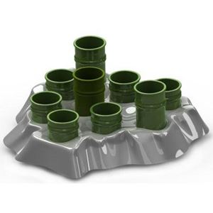 "Picture of Aikiou Stimulo Activity Food Center for Cats  Gray / Green 11.5"" x 11"" x 2""  ** DISCONTINUED **"