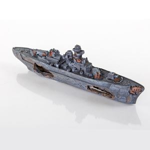 "Picture of BioBubble Decorative Sunken Battleship 13"" x 2.25"" x 4.25"""