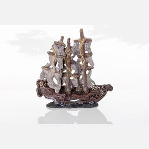 "Picture of BioBubble Decorative Mystery Pirate Ship Small 9.5"" x 4"" x 4.75"""