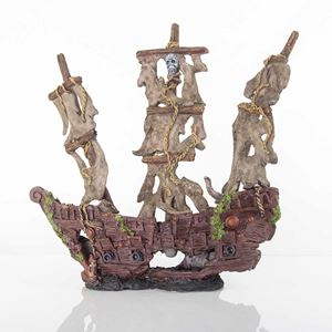"Picture of BioBubble Decorative Mystery Pirate Ship Large 17"" x 6.25"" x 9.75"""