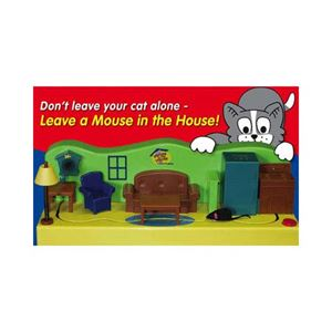 """Picture of CatDancer Mouse in the House Cat Toy 17.5"""" x 5.5"""" x 5"""""""