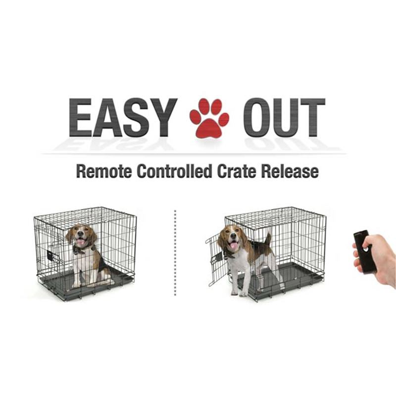 Picture of EasyOut Remote Pet Cage Door Opener Double Latch Black ** DISCONTINUED**