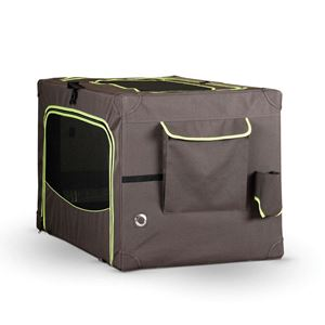 "Picture of K&H Pet Products Classy Go Soft Pet Crate Small Brown/Lime Green 24.02"" x 17.91"" x 16.93"""