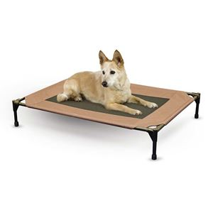 """Picture of K&H Pet Products Pet Cot Large Chocolate 30"""" x 42"""" x 7"""""""