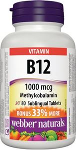 Picture of Webber Naturals Vitamin B12 Tablets 1000Mcg