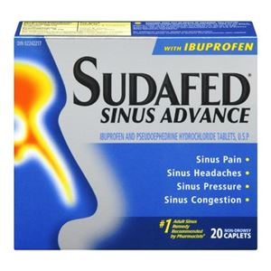 Picture of Sudafed Sinus Advance with Ibuprofen