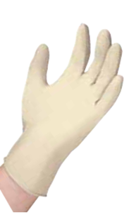 Picture of Examination Grade Latex Gloves Powder Free- X Large