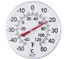 "Picture of 12"" Dial Thermometer"