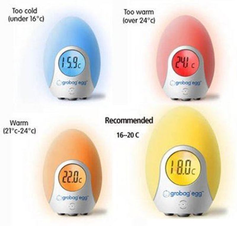 gro egg colour changing digital room thermometer
