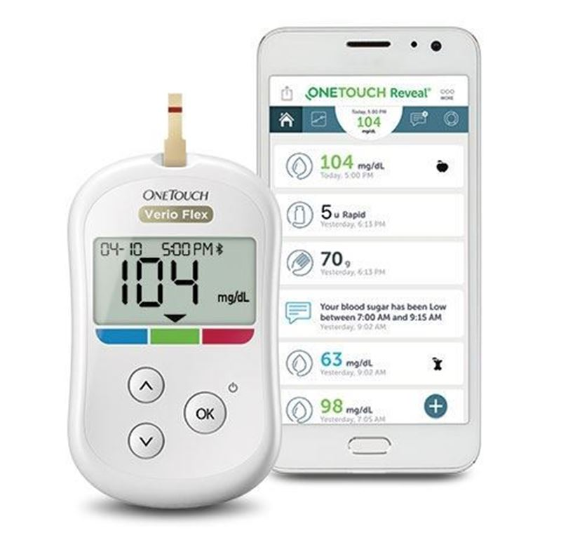 Picture of One Touch Verio Flex Blood Sugar Meter