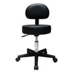 Picture of Pneumatic Stool with Backrest - Black