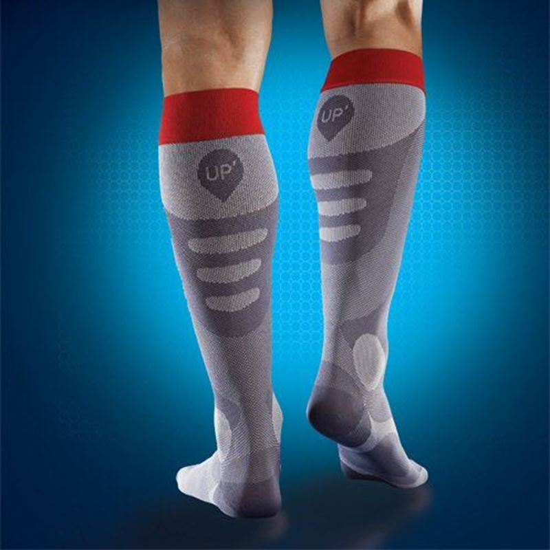 Picture of Sports UP Recovery Socks Men Grey/Red