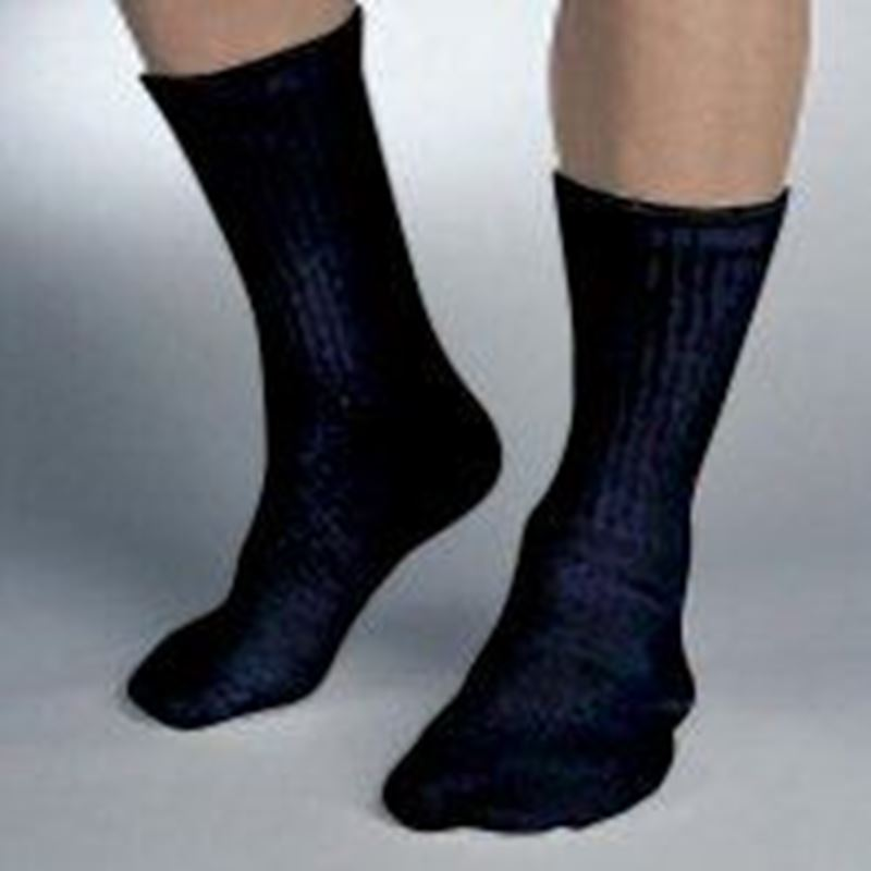 Picture of SensiFoot Crew Sock Black/Large