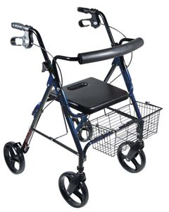 """Picture of D-Lite Aluminum Rollator with Removable 8"""" Casters"""
