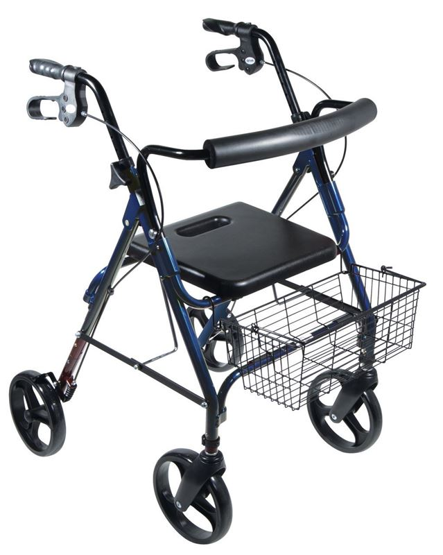 "Picture of D-Lite Aluminum Rollator with Removable 8"" Casters"