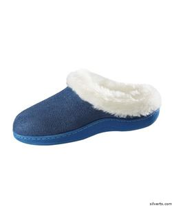 Picture of Narrow Slip On Fur Slippers with Cushion Insoles