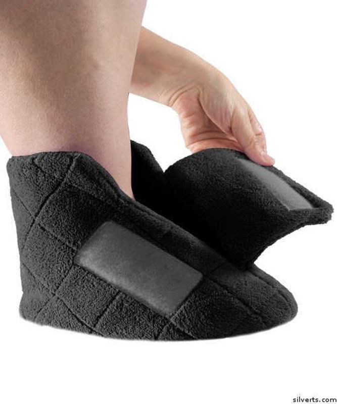 Picture of Extra Wide Swollen Feet Slippers - Soft Cozy Comfortable