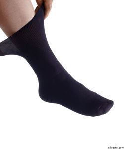 Picture of Mens Diabetic/Edema Dress Socks
